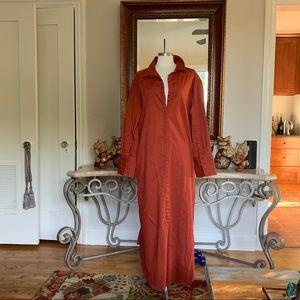 NICHOLAS K Burnt Orange Button Front Maxi Dress